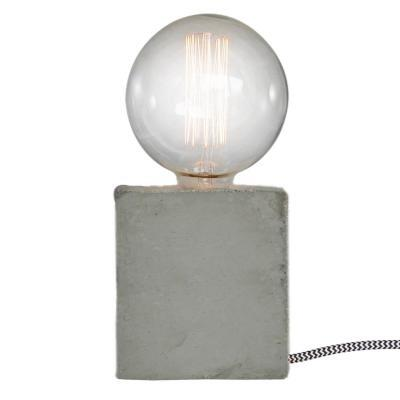LAMPE BASE CUBE EN BETON