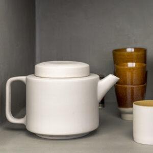 Théière céramique blanche