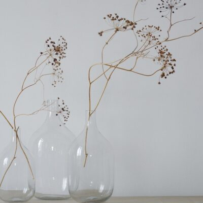 Vase bonbonne en verre