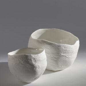 boule en céramique blanche