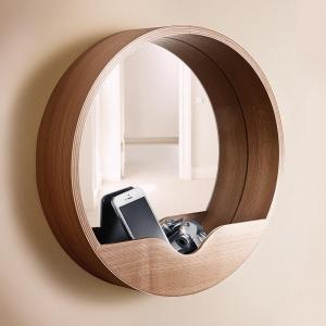 miroir en bois rond zuiver