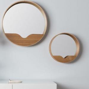 miroir en bois rond