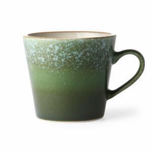 mug 70's en céramique vert