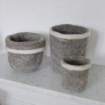Corbeilles en laine feutrée GARDEN TRADING