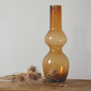 Vase en verre ambre OPJET PARIS