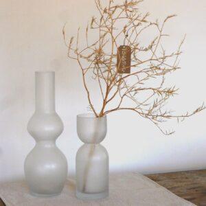 Vase en verre depoli effet givrè OPJET PARIS