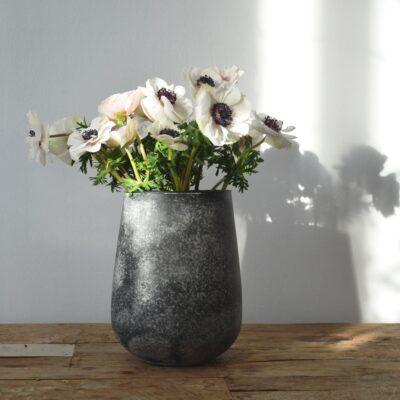 Vase en verre effet minéral AFFARI
